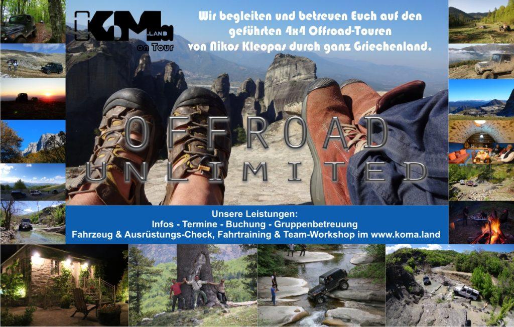 Offroad-Tour in Griechenland ... mit koma.land und offroadunlimited.eu