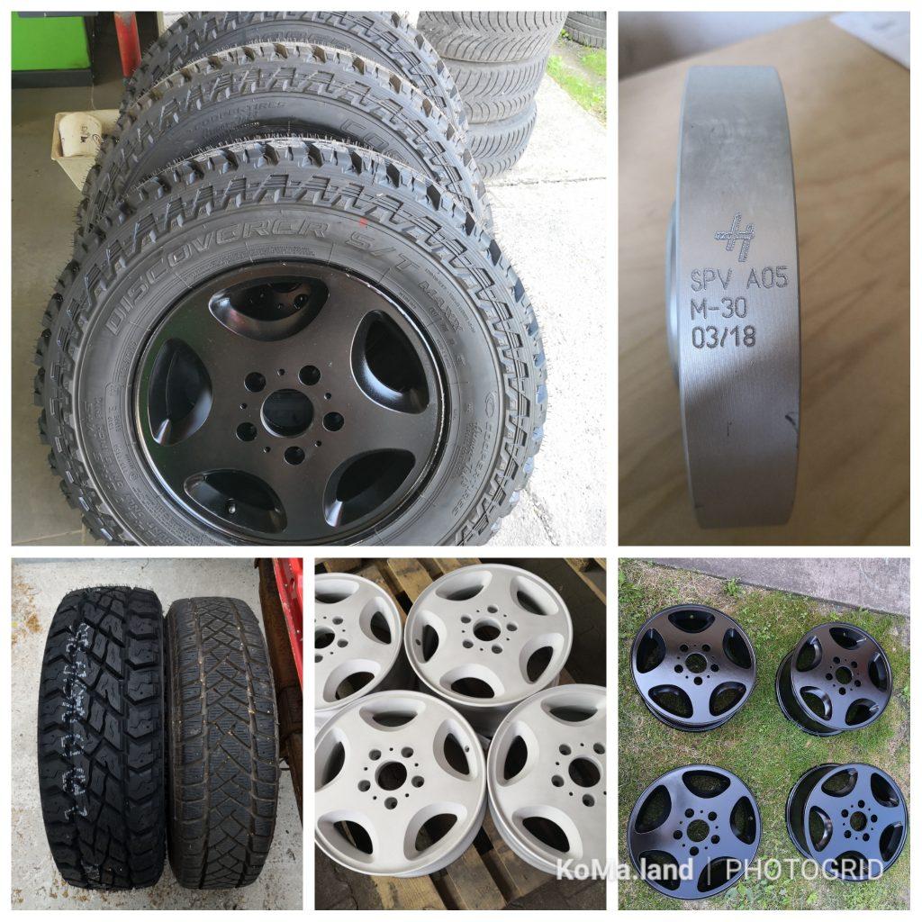 Grisu T1 KoMa.Land Reifen Mercedes G Felgen Spurplatten