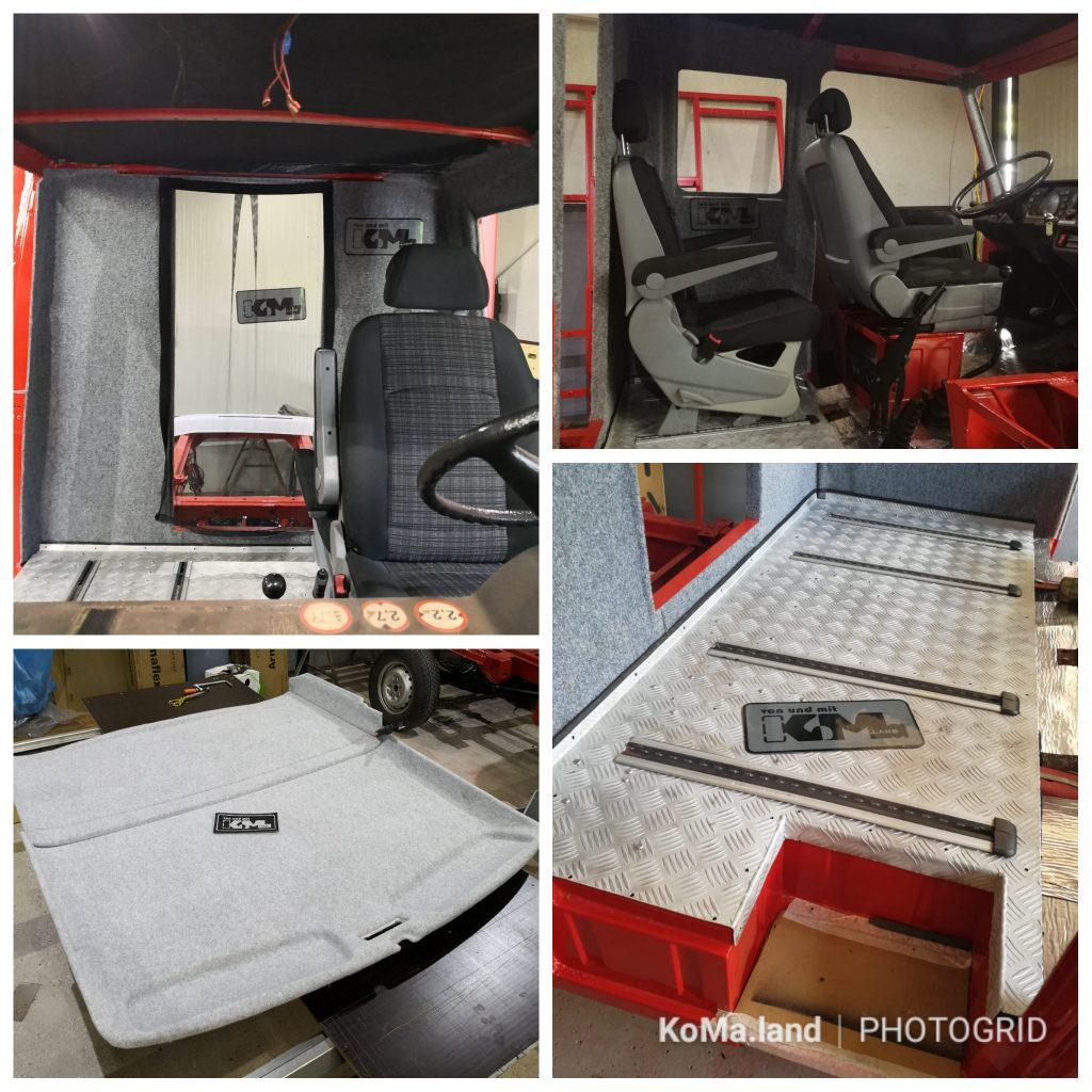 Grisu T1 KoMa.Land Sitze und Schienen Vito